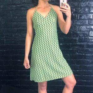 Spring Halter Style Dress - zigzag knit